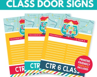 2017 LDS Primary CTR Door Signs