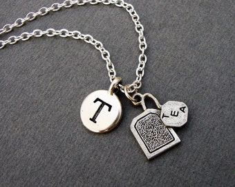 Tea Bag Necklace, Custom Tea Drinkers Keychain, Tea Bag Bangle Bracelet, Spot of Tea High Afternoon Tea Necklace, Gift for Tea Drinker