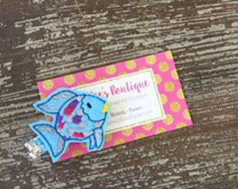 Fish Hair Clip - Fish Hair Bow - Fish Birthday - Fish Outfit - Party Favor - Back to School Hair Clip
