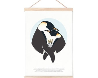Poster - penguin story | children - nursery | 50x70cm - 19,7 x 27,5 inches