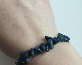 Blue Stone Bead Bracelet