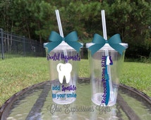 Dental Hygienists add sparkle to your smile personalized tumbler