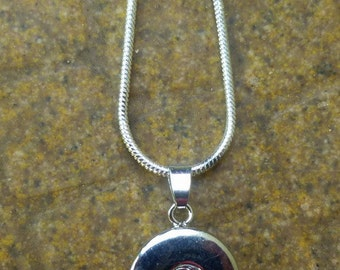 "SPECIAL ~ Simple 18"" Snake Chain Complete with Pendant for Snap-It/Ginger Charms"