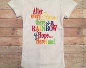 after every storm there is arainbow of hope...here i am, hand picked for earth, rainbow baby onesie, Heaven Onesie