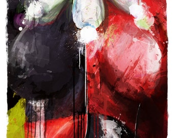 """New Gotham's Worstt Harley Abstract Art Canvas, 16"""" x 24"""" and 20"""" x 30"""""""