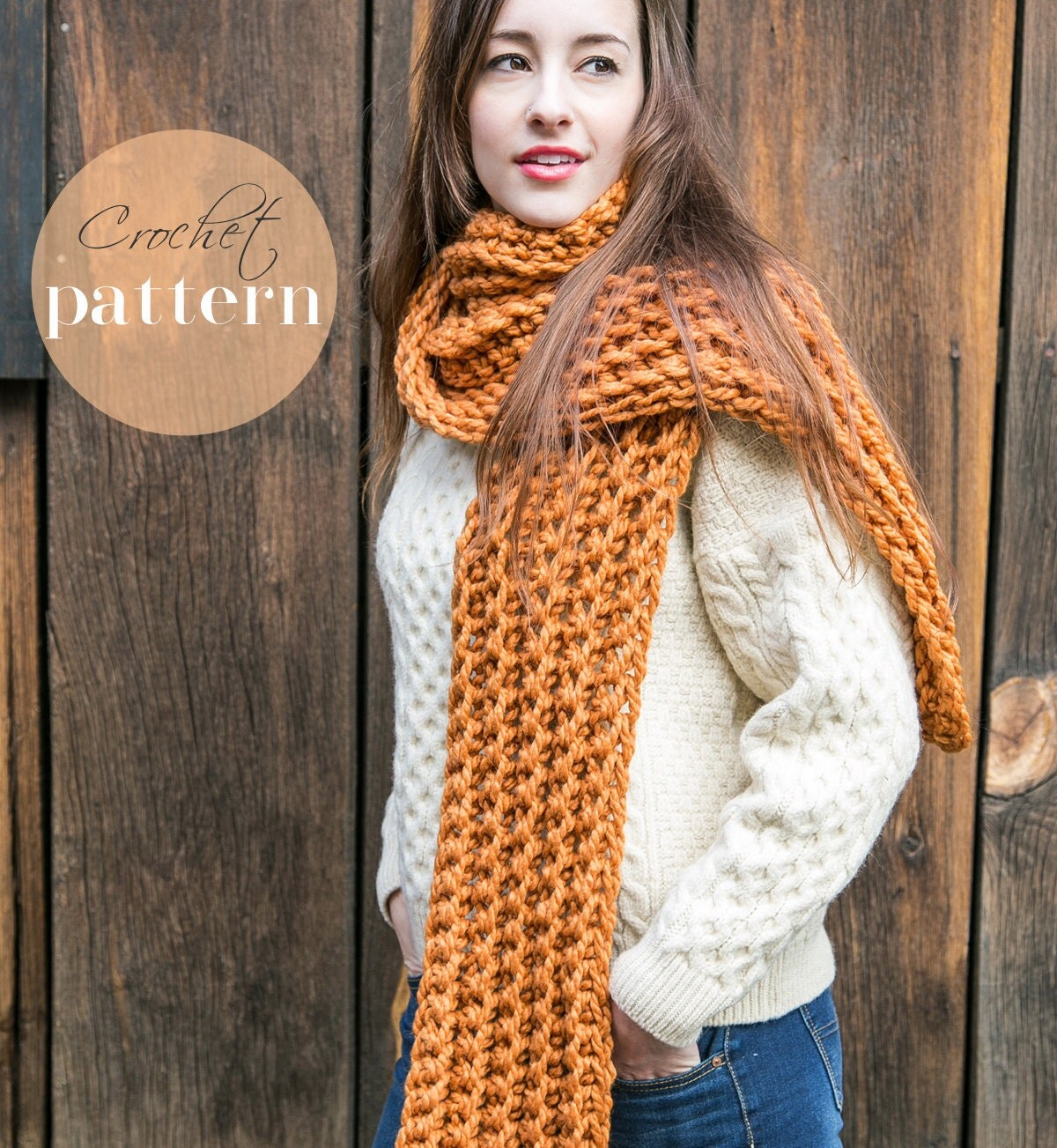 18 Cozy Crochet Infinity Scarf Patterns Perfect for ...  |Beginning Crochet Scarf Pattern
