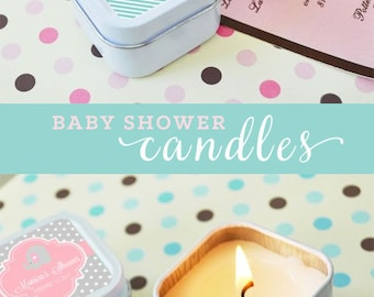 Baby Shower Candle Favors Baby Shower Favors Candles Baby Shower Candles Personalized Baby Gifts Baby Favors Baby Candles (EB2079Z)- 12| pcs