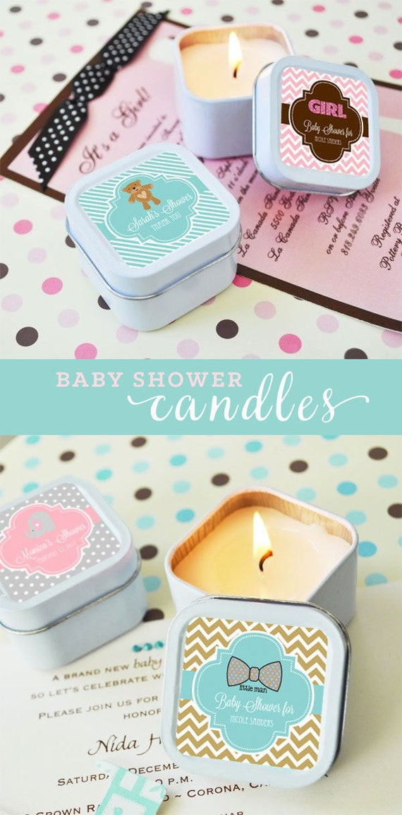 Baby Shower Candle Favors Baby Shower Favors Candles Baby Shower Candles Personalized Baby Gifts Baby Favors Baby Candles (EB2079Z) - 12 pcs