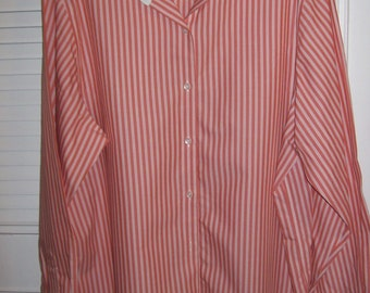 Shirt 16, Vintage Talbot's Candy Striped Cotton Shirt Size 16 see details