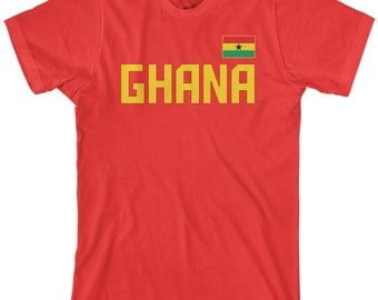 Ghana National Team Men's T-shirt Ghanaian Flag West Africa Football Accra Busua Soccer - TA_00302