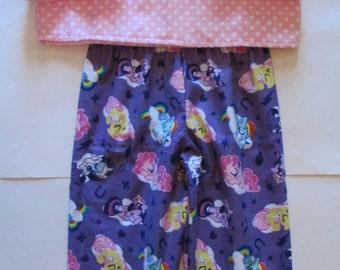 My Little Pony pajamas / MLP pajamas/My little pony flannel pajamas/girls pajamas/My Little Pony gift/gift for girls/girls flannel pajamas