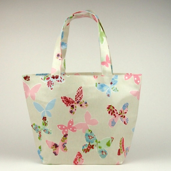 Tote Bag Oilcloth Bag Lunch Bag Butterfly Bag By