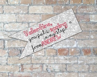 SPRING In My Step Valentine Tag {Digital Item}