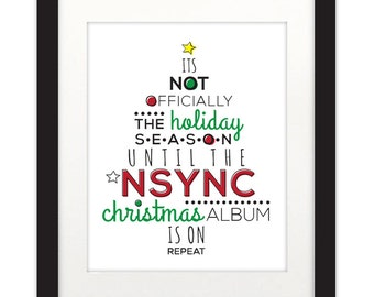 NSYNC  Happy Holidays 8.5 x 11 Poster