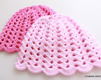 Crochet Baby Hat - Pink Baby Hat - Baby Shower - Baby Girl Gift - Hand Crocheted Item - Crochet Baby Girl Hat - Ready to Ship