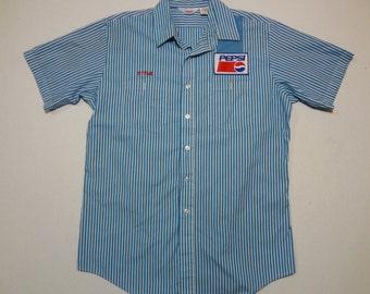 Pepsi Delivery Uniform Shirt 16-16.5 Steve