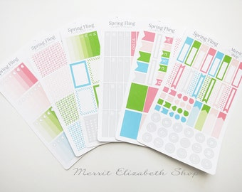 Planner Weekly Kit : Spring Fling Theme Planner Stickers 15053013
