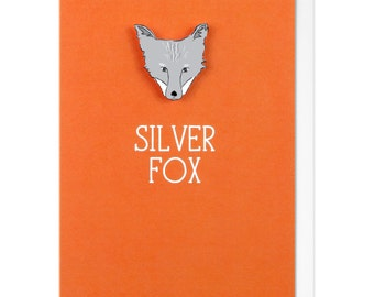 Silver Fox Personalised Greeting Card