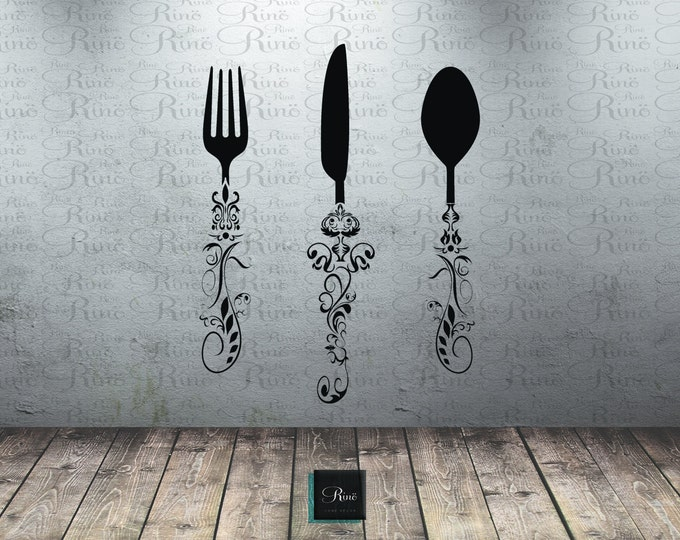 Utensil Decals 5ft Kitchen Wall Decal