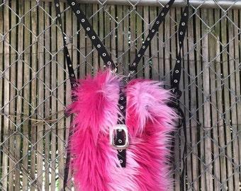 Scene queen furry mini backpack