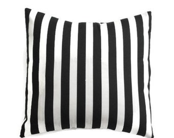Classic Black and White Striped Pillow Cover/ Black/White Cover/ Pillows/ Pillowcase