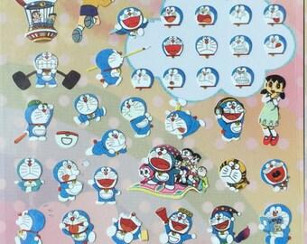 Doraemon sticker,craft supply,scrapbook supply,diary sticker,colorful sticker