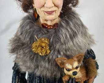 "Artist Doll ""Lady with the dog"" by Elena Fesler"