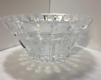 Vintage Cut Glass Bowl, Wedding Bowl, Lead Crystal Bowl, Wedding Decor, Crystal Candy Dish