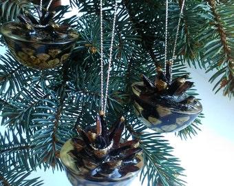 Christmas ornament Christmas decor Pine cone Real cone decor Christmas decoration Cone ornament Xmas decor Cristmas ornament Home decor