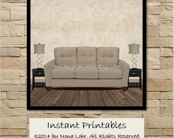 Digital Mock Up for Wall Art Print Painting Unframed Canvas Instant Print Wall Decor Picture Display INSTANT DOWNLOAD