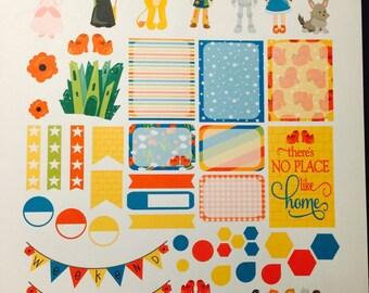 Dorothy Wizard of Oz Weekly Planner Stickers Set, Erin Condren Life Planner, Happy Planner