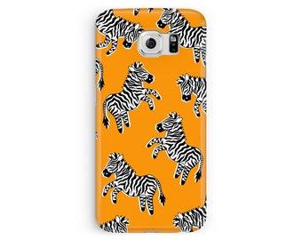 SALE! Case for Samsung Galaxy S4, Samsung S4, Zebra Phone Case, Zebra Samsung Case, cover for S4, Kids Samsung, Burnt Orange Samsung Galaxy