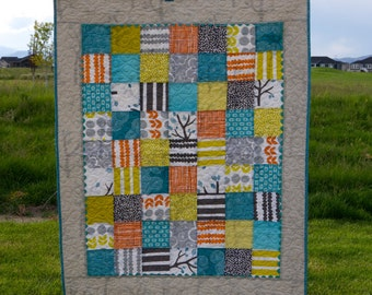 "Baby Quilt, ""Bella Baby,"" Bella by Lotta Jansdotter - handmade quilt"