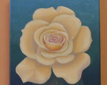 The Yellow Rose, Oil Painting by Australian Artist Travis Collins - Authenticity Certificate Included