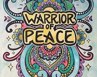 Warrior of Peace Giclee Print