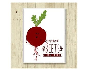 Love Magnet, Funny Magent, Refrigerator Magnet, Funny Food Pun, Vegetable Magnet, Gifts Under 10, Small Gift, Beet Art, Gift Magnet