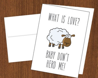 What is Love? Baby Don't Herd Me - Funny Cards - 4bar