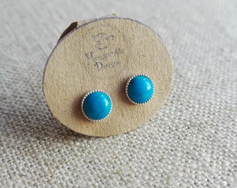 Turquoise Stud Earrings - December birthstone