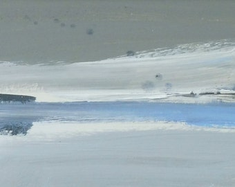 BAY. Original Acrylic Abstract Landscape Painting.