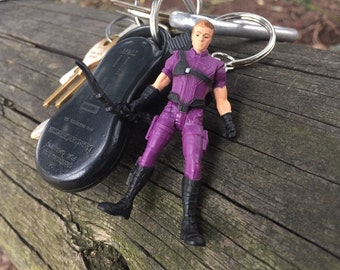 Marvel Avengers Hawkeye Mini-Figure Key Chain With Custom Gift Box