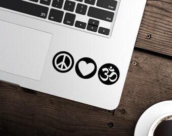 Peace Love Om Decal