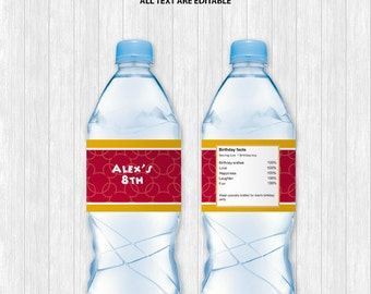 Mickey Mouse Water Bottle Label