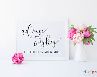 Advice and Wishes Printable. Advice and Wishes. Advice For Bride And Groom. Advice For The Bride And Groom. Advice Sign. Wedding Advice.