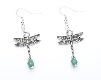 Dragonfly Earrings | Dragonfly Charm Earrings | Sterling Silver Earrings | Dragonfly Jewellery