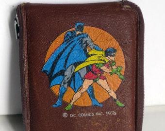 VINTAGE Batman Wallet/Billfold, Brown, DC Comics 1976