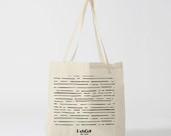 Tote bag lines tote bag graphic lines , bread bag , shopping bag , diaper bag , luggage bag , school bag , cotton tote bag .