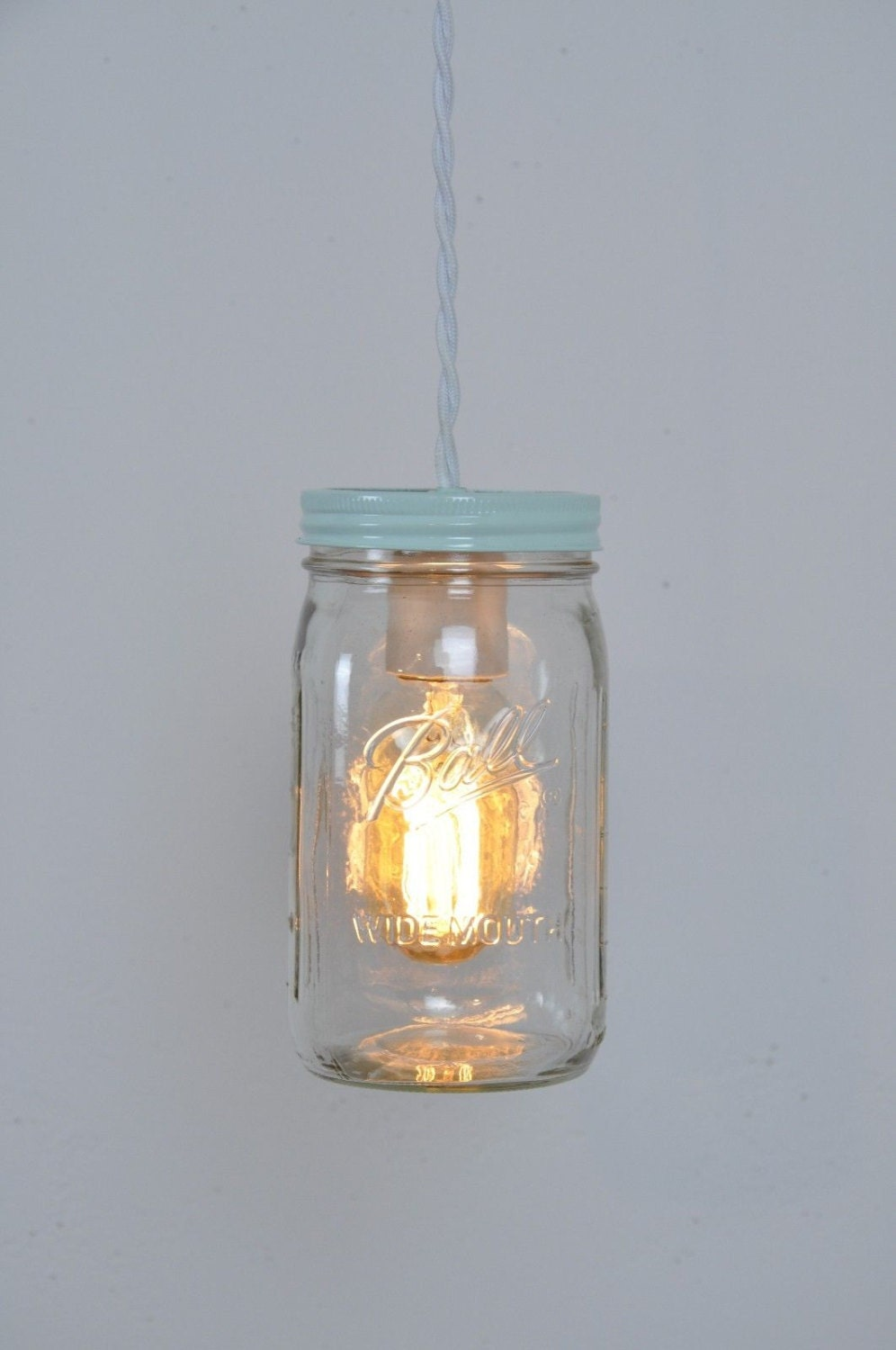 Mason jar light mason jar pendant light hanging light for Hanging lights made from mason jars