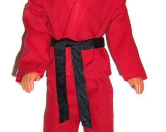 Red Karate Outfit for Male Fashion Dolls