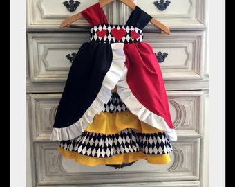 Queen of Hearts Costume, Alice in Wonderland Dress, Queen of Hearts Dress, Madhatter Costume, Madhatter Party, Alice in Wonderland Party