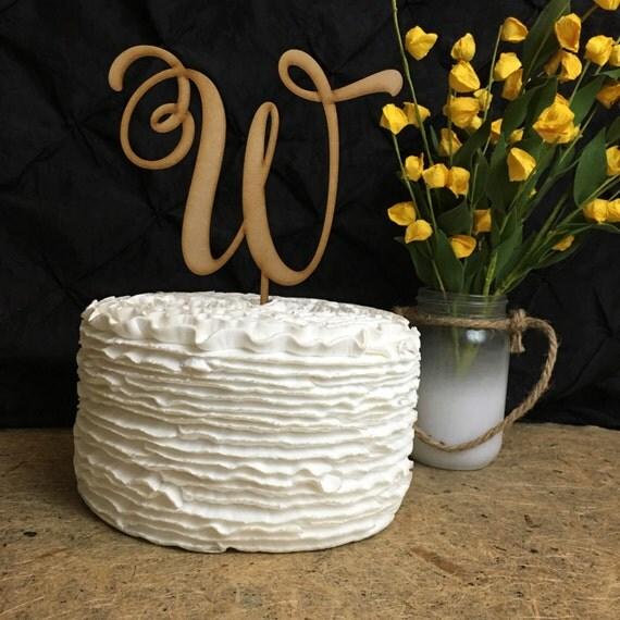 Monogram Cake Topper, Letter Cake Topper, Wedding Cake Toppers, Custom Cake Topper, Wedding Monogram, Cake Toppers for Wedding, Rustic Cake